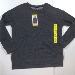 32 Degrees fleece charcoal sweatshirt Sz S NWT